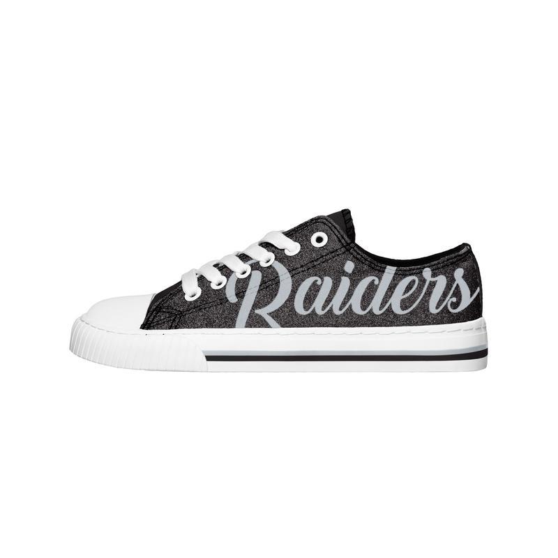 Las vegas raiders NFL low top canvas shoes 1
