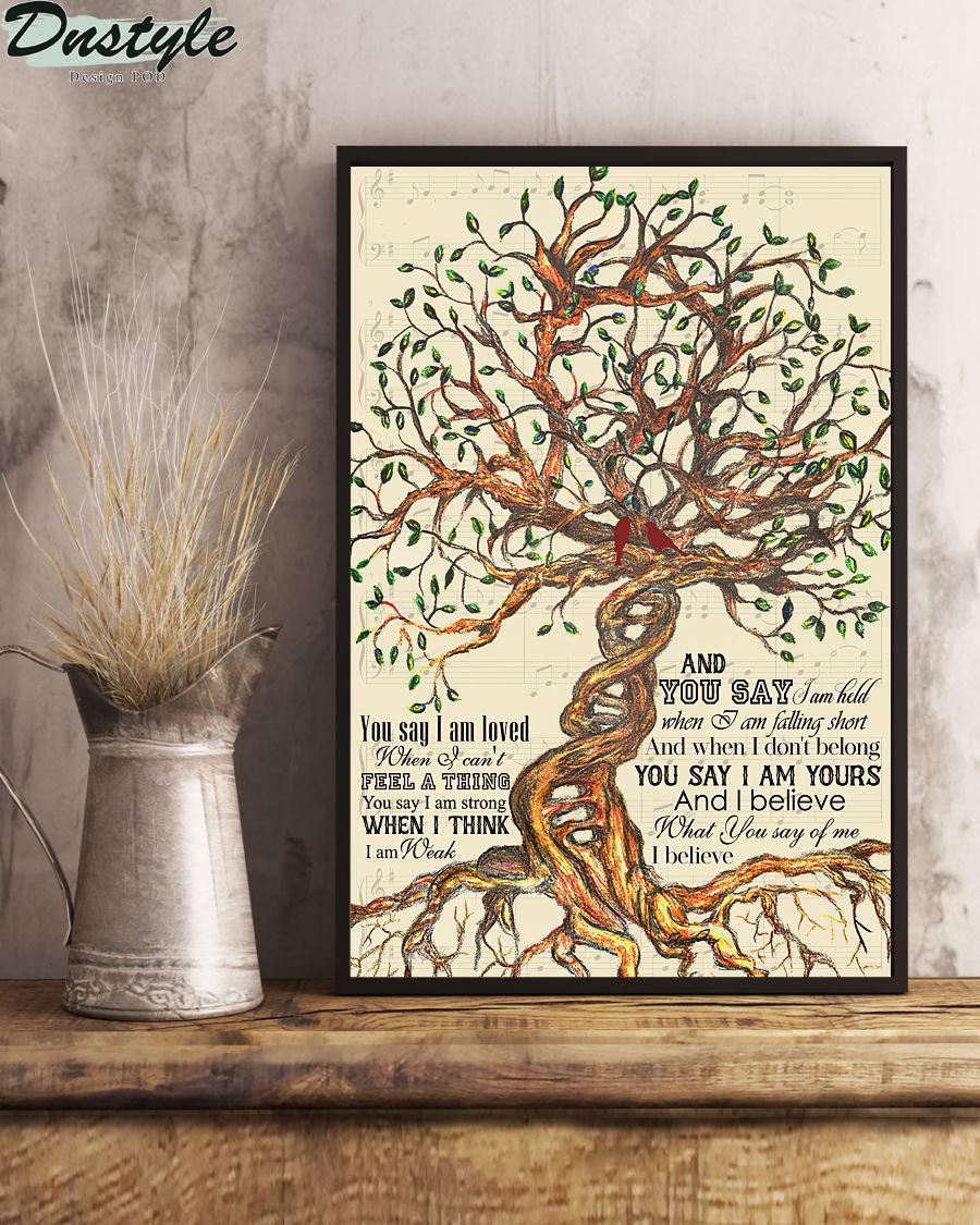 Lauren Daigle You Say Tree Lyrics Poster