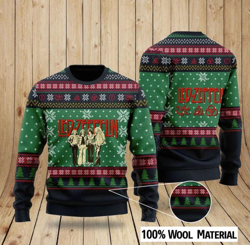 Led Zeppelin ugly sweater