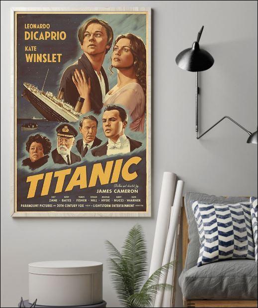 Leonardo Dicaprio Kate Winslet Titanic poster