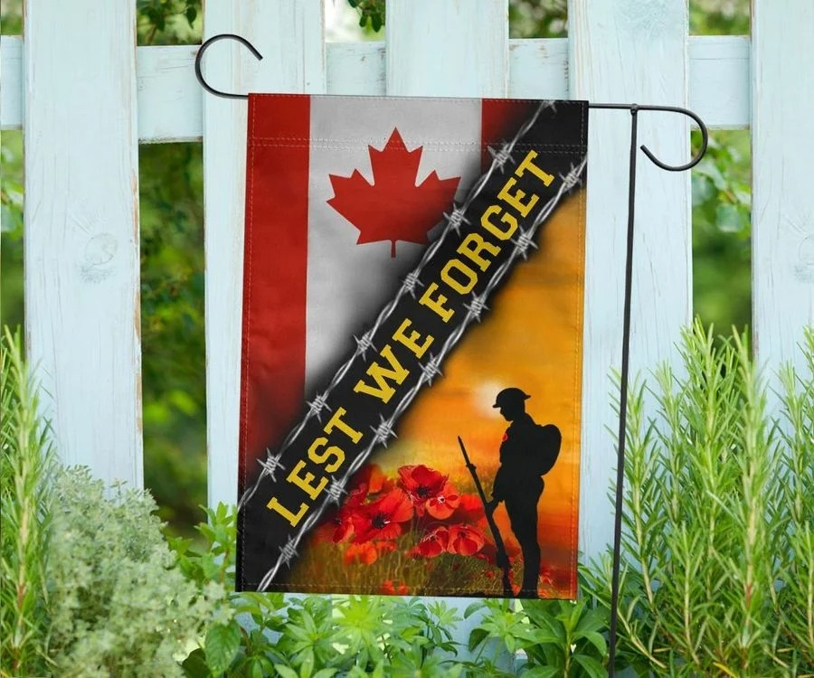 Lest We Forget Canada Flag 2