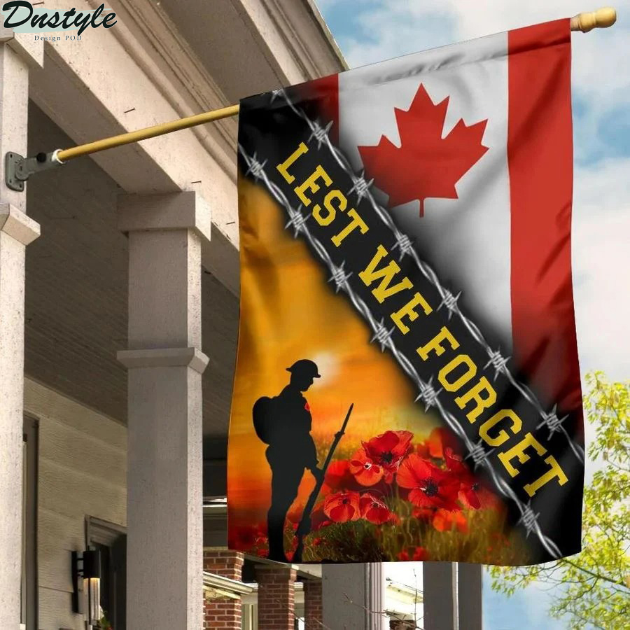 Lest We Forget Canada Flag