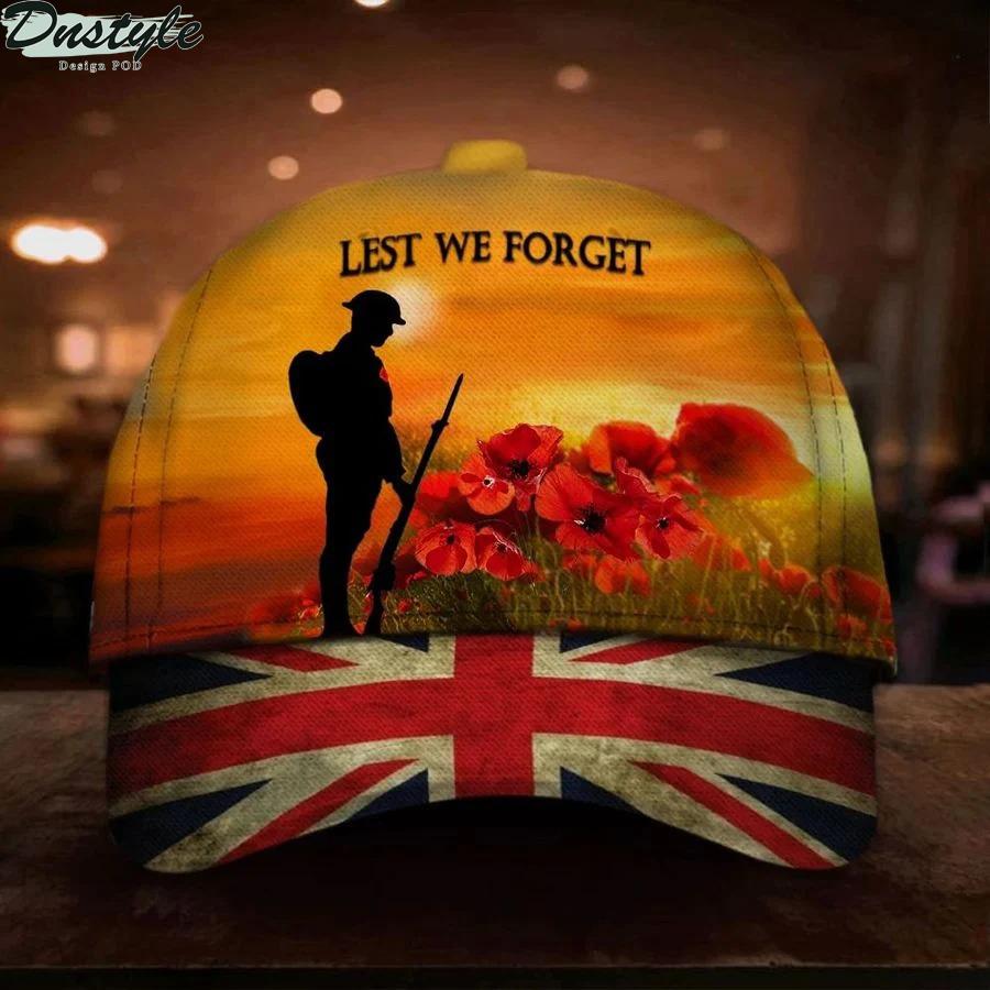 Lest We Forget UK Flag Cap
