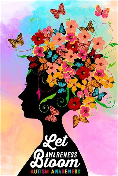 Let awareness bloom autism awareness poster