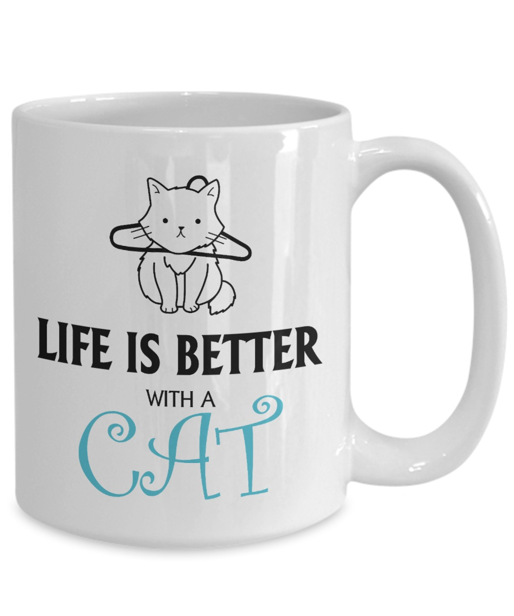 Life is better with a cat mug 1