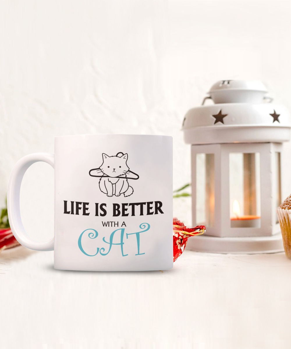 Life is better with a cat mug 2