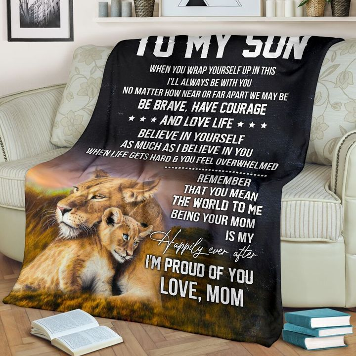 Lion mom to my son blanket 3