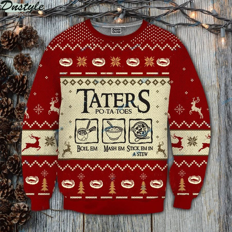 Lord of the ring taters potatoes LOTR ugly sweater