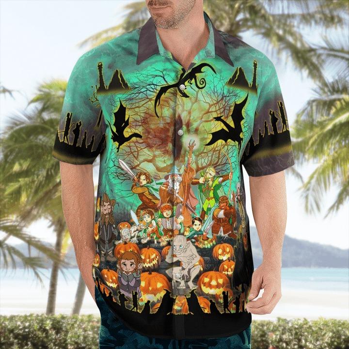 Lord ofthe rings in halloween hawaiian shirt 1