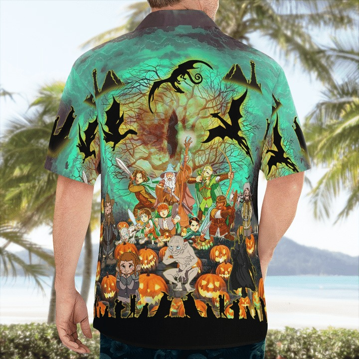 Lord ofthe rings in halloween hawaiian shirt 2