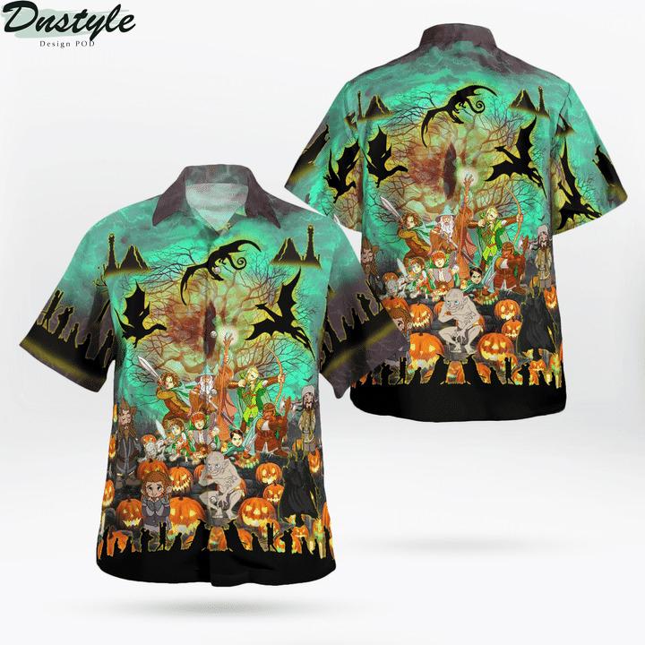 Lord of the rings in halloween hawaiian shirt