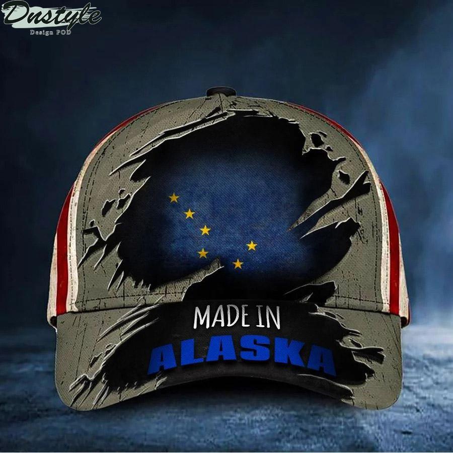 Made In Alaska Hat USA Alaska Flag Cap