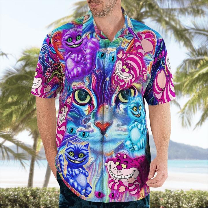 Magical cheshire cats hawaiian shirt 1