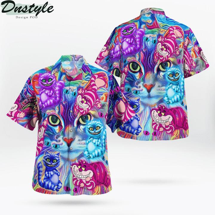 Magical cheshire cats hawaiian shirt