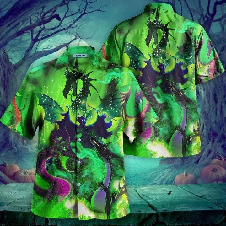 Maleficent dragon hawaiian shirt 2