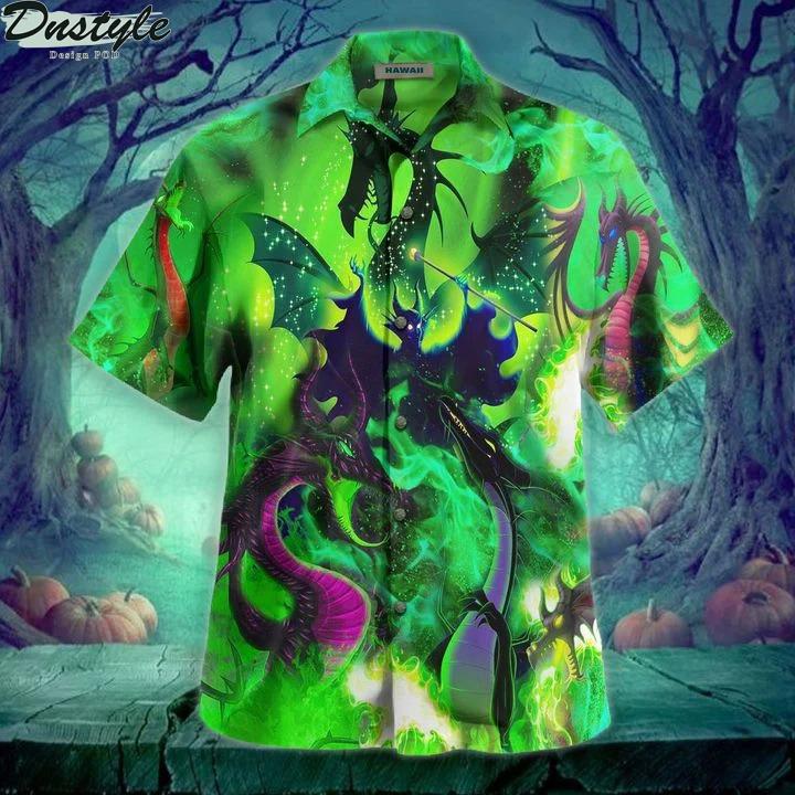 Maleficent dragon hawaiian shirt
