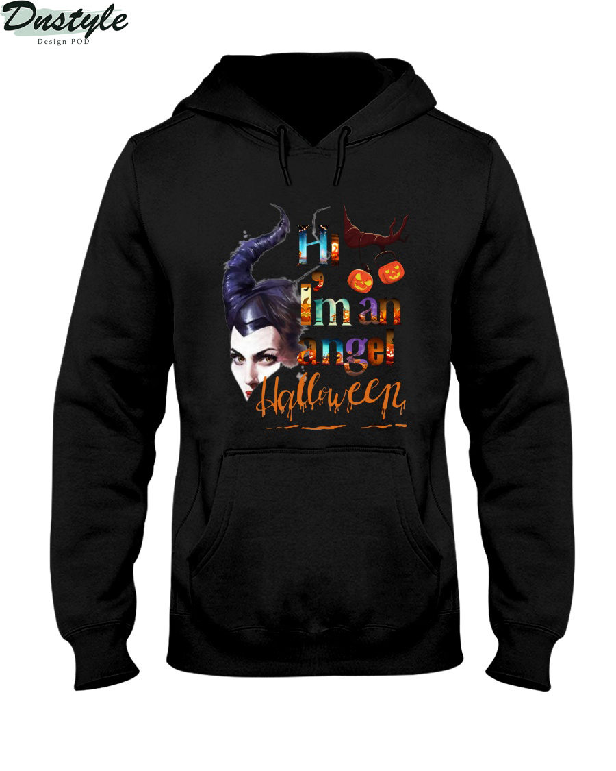 Maleficent hi I'm an angel halloween hoodie