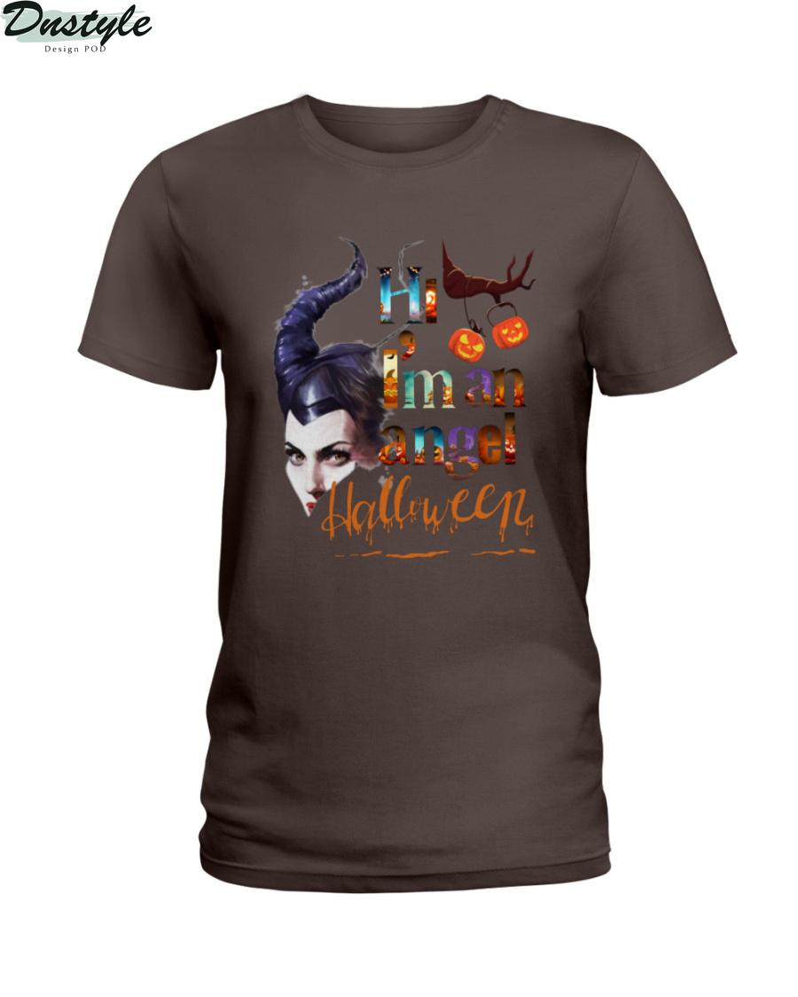 Maleficent hi I'm an angel halloween shirt 1