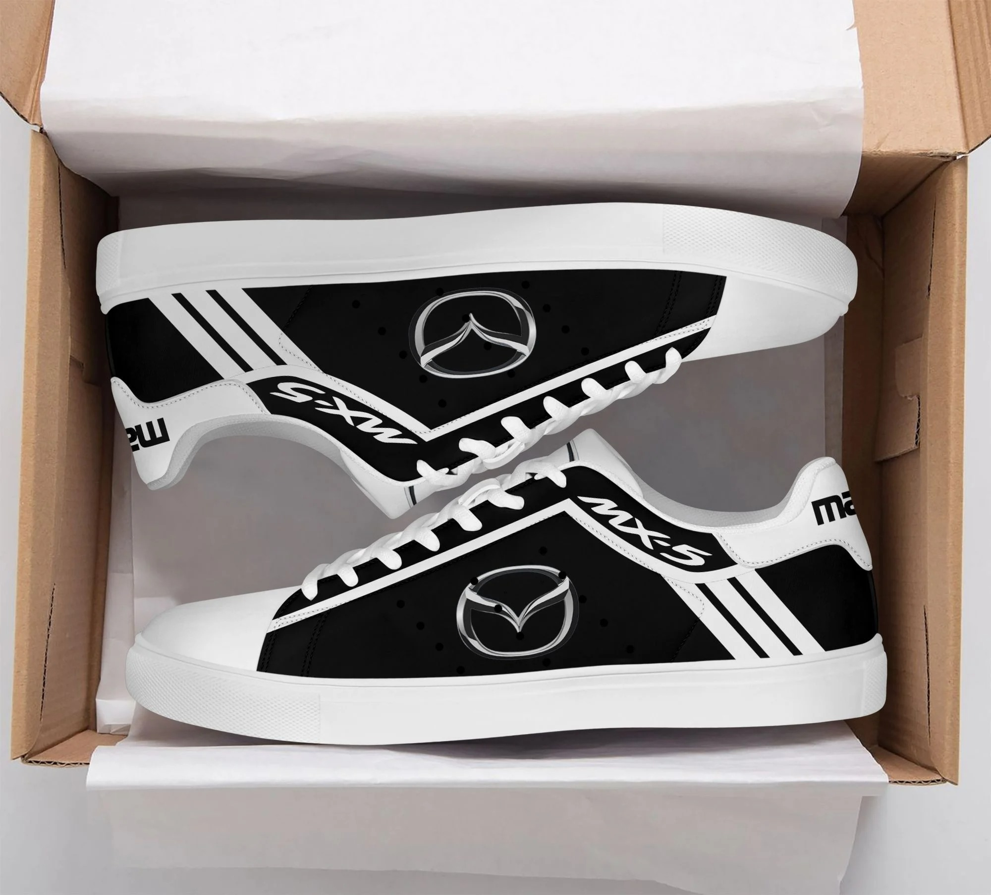 Mazda MX-5 black and white stan smith low top shoes 1