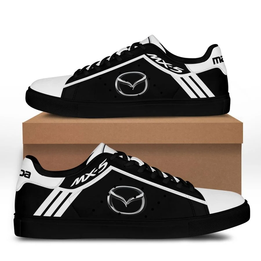 Mazda MX-5 black and white stan smith low top shoes 2