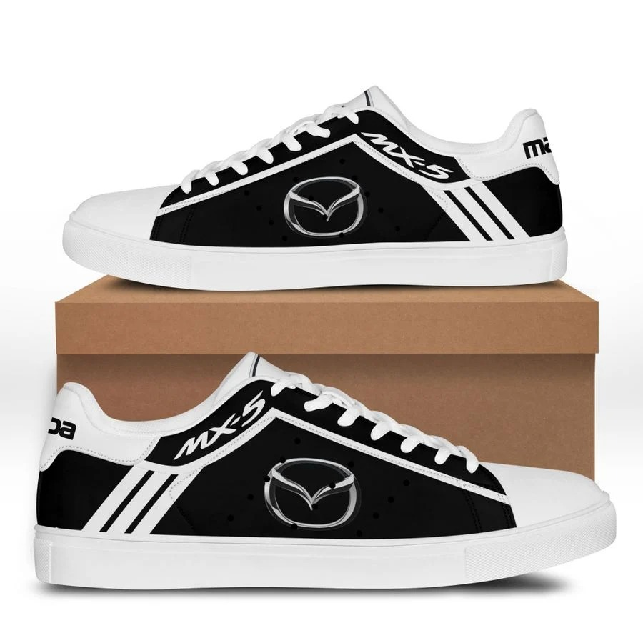 Mazda MX-5 black and white stan smith low top shoes 3