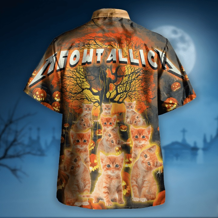 Meowtallica master of kittens hawaiian shirt 2