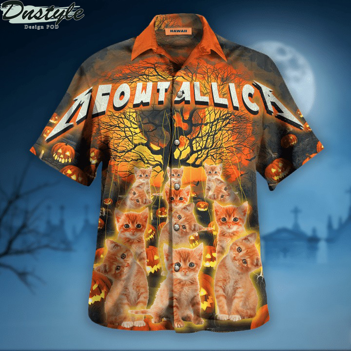 Meowtallica master of kittens hawaiian shirt