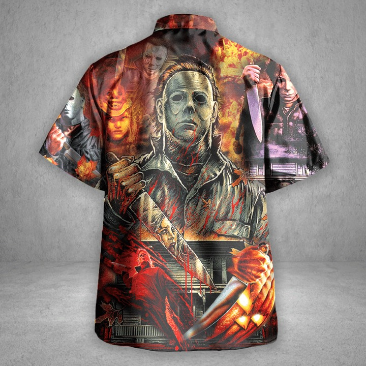 Michael myers a real man will chase after you hawaiian shirt 1