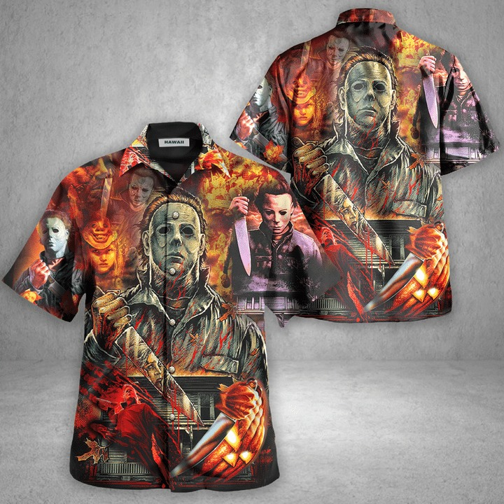 Michael myers a real man will chase after you hawaiian shirt 2