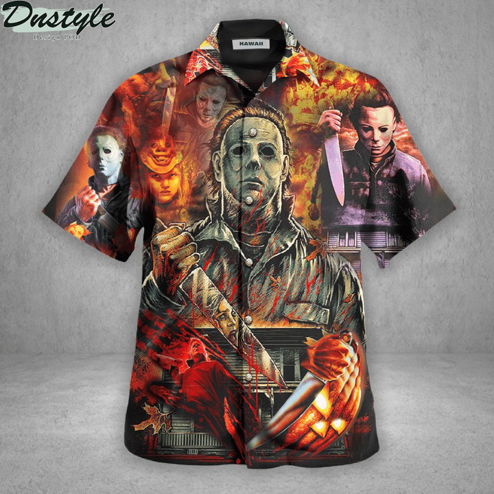 Michael myers a real man will chase after you hawaiian shirt