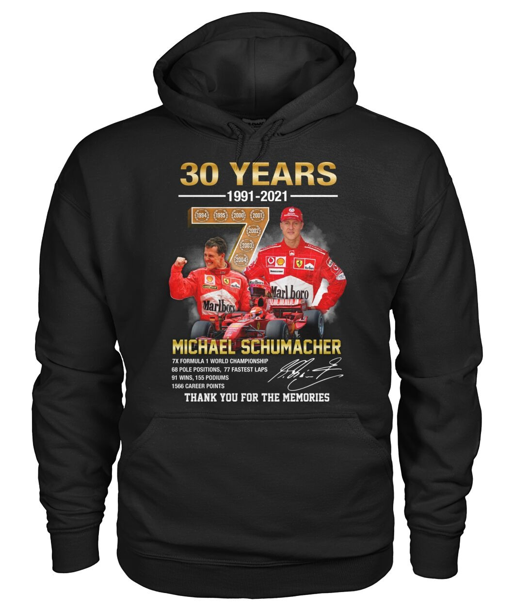 Michael schumacher 30 years thank you for the memories hoodie