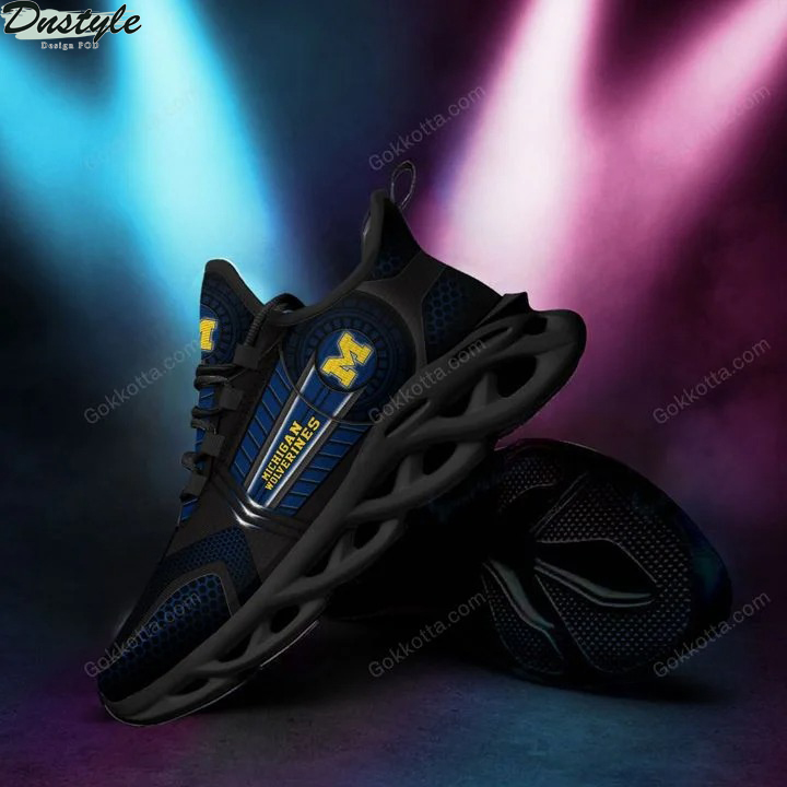 Michigan wolverines NCAA max soul shoes 1