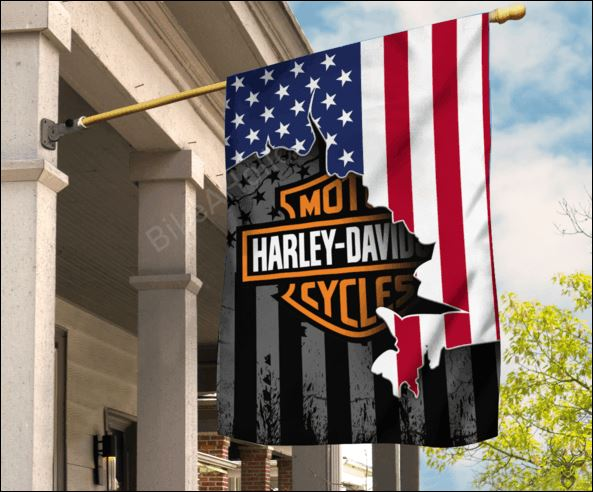 Motor Harley Davidson American flag