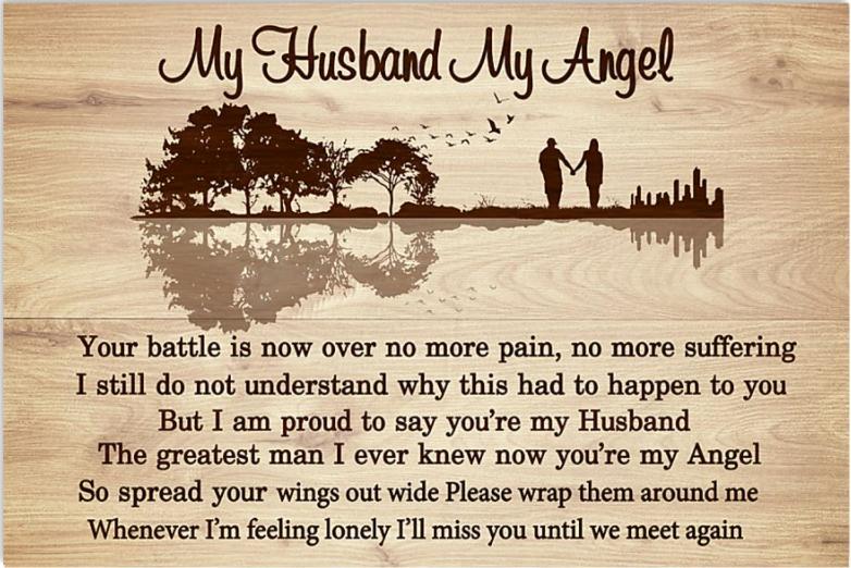 My husband my angel poster