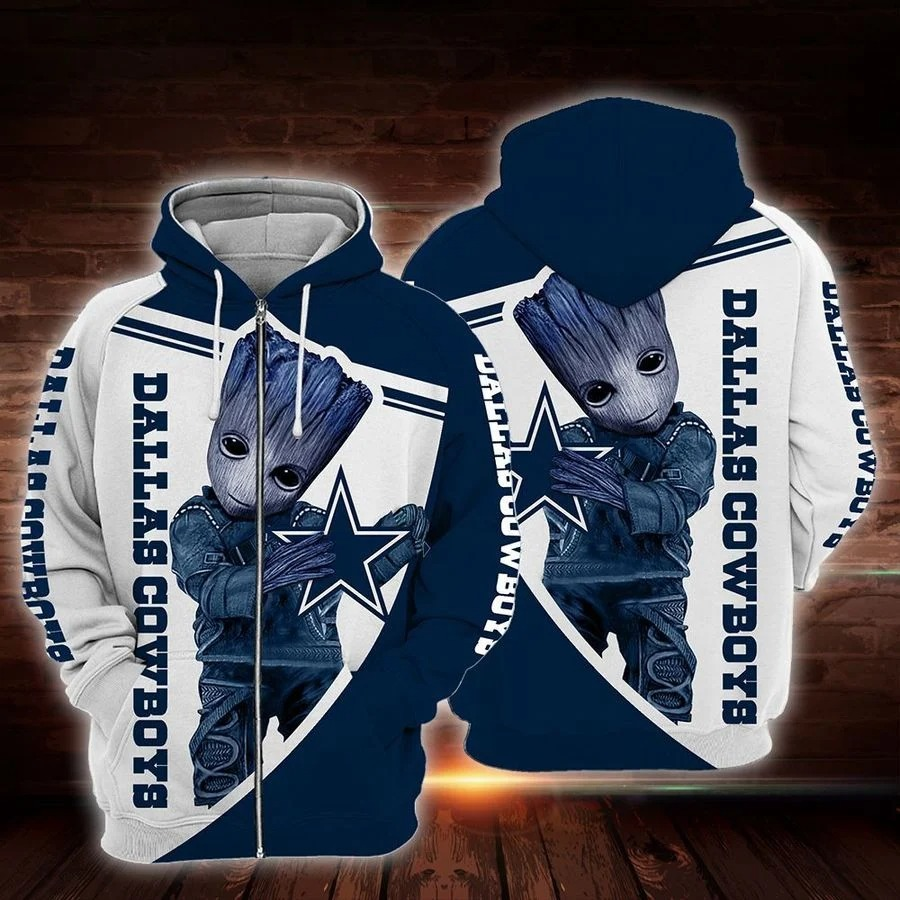 NFL Dallas cowboys Groot 3d full printed hoodie 3