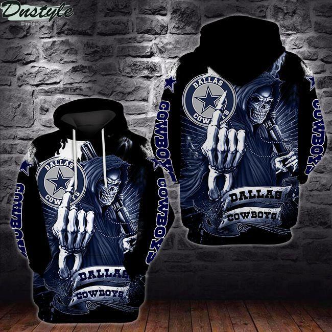 NFL Dallas cowboys death skull 3d full printed hoodie