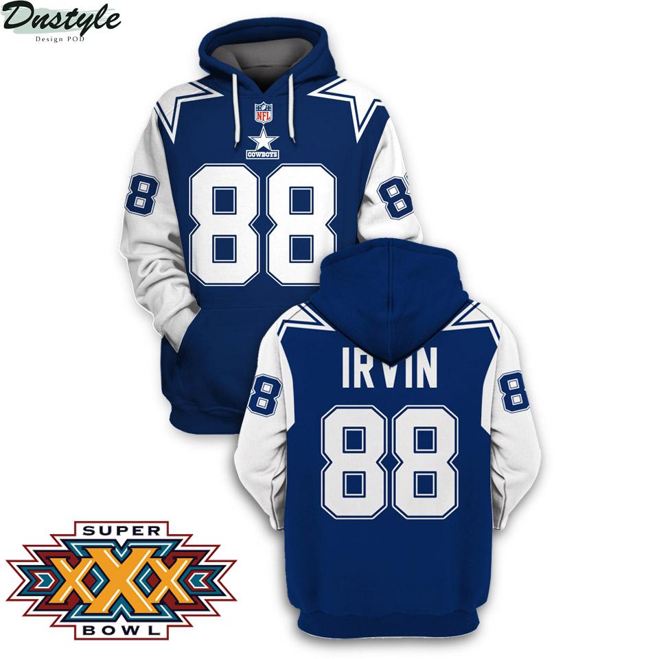NFL Dallas cowboys super bowl xxx Irvin 88 3d printed hoodie