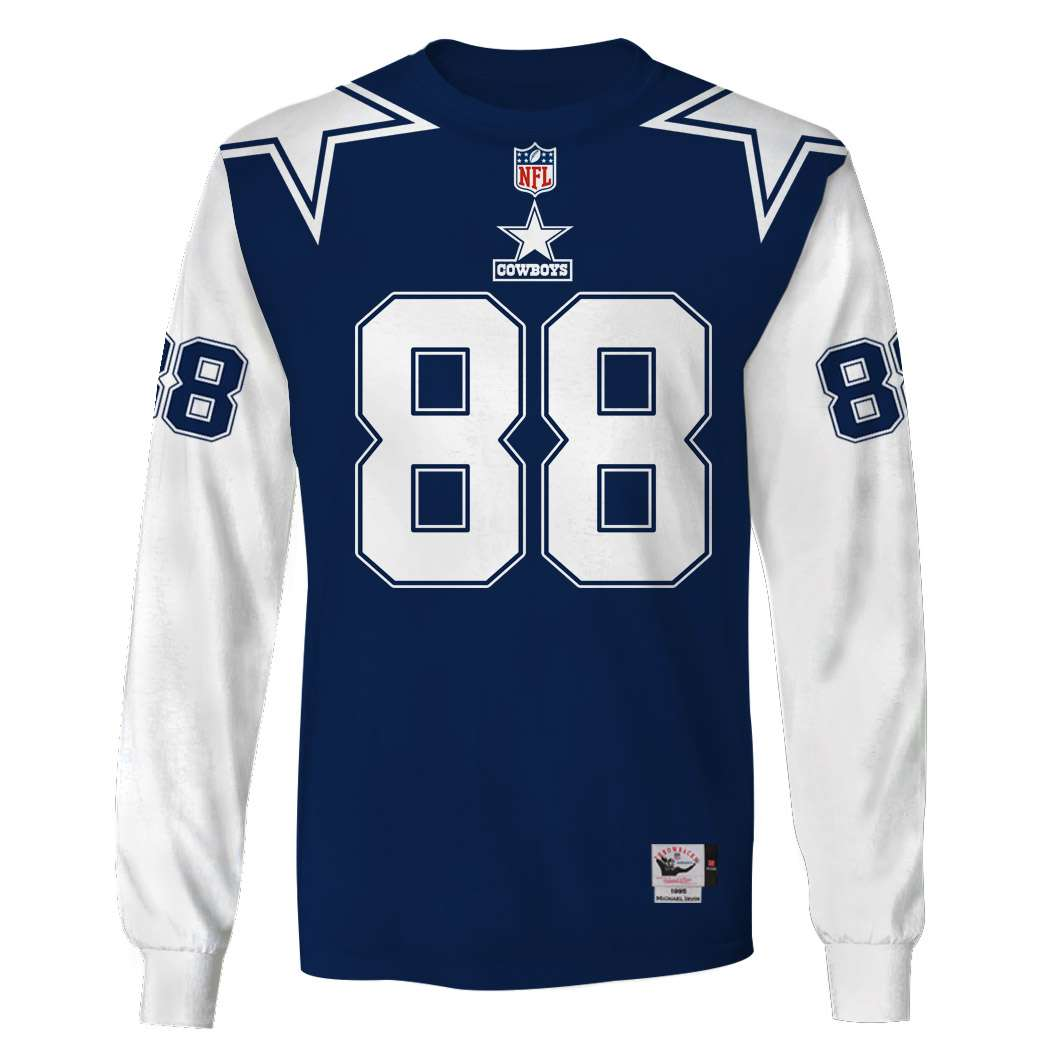 NFL Dallas cowboys super bowl xxx Irvin 88 3d printed long sleeve