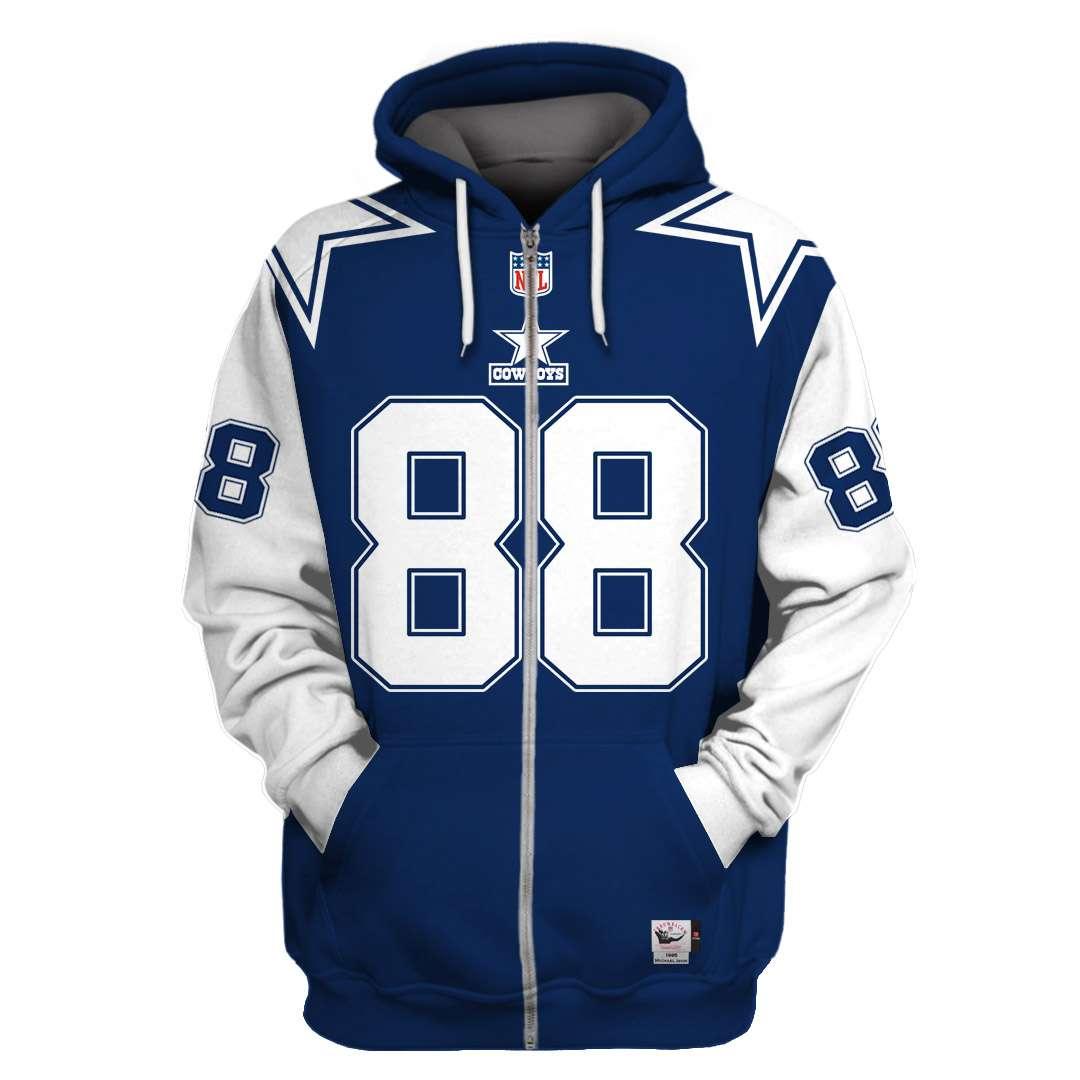 NFL Dallas cowboys super bowl xxx Irvin 88 3d printed zip hoodie