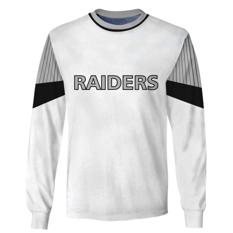NFL Oakland Raiders 3d full printing long sleeve