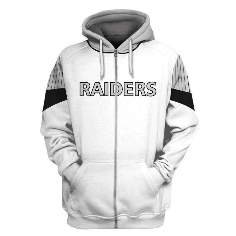 NFL Oakland Raiders 3d full printing zip hoodie