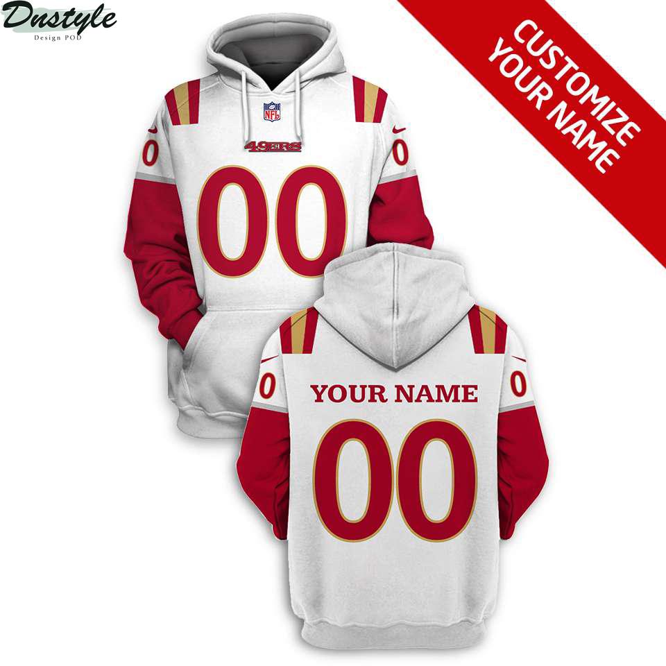 NFL San Francisco 49ers custom name and number 3d printed hoodie