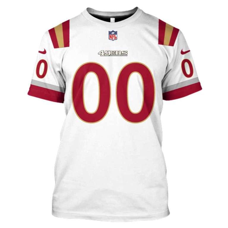 NFL San Francisco 49ers custom name and number 3d printed shirt
