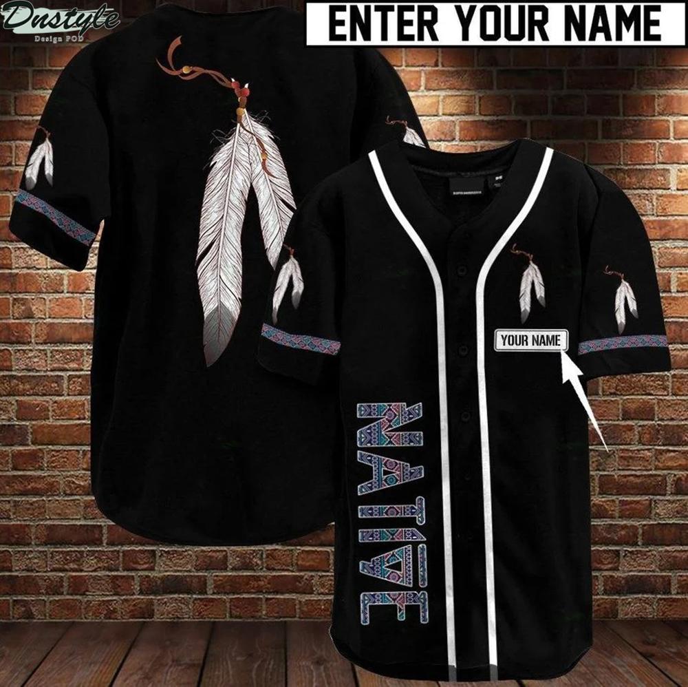Native american personalized name baseball jersey