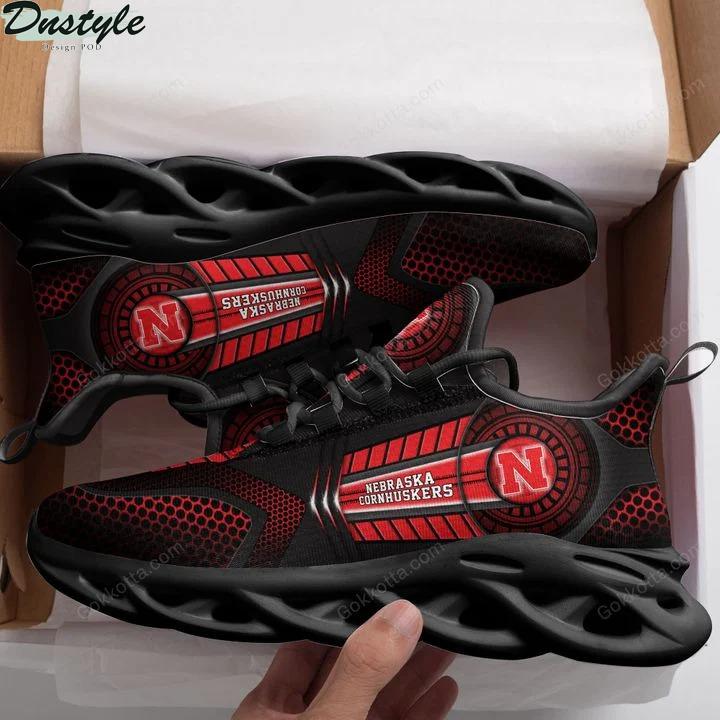 Nebraska cornhuskers NCAA max soul shoes