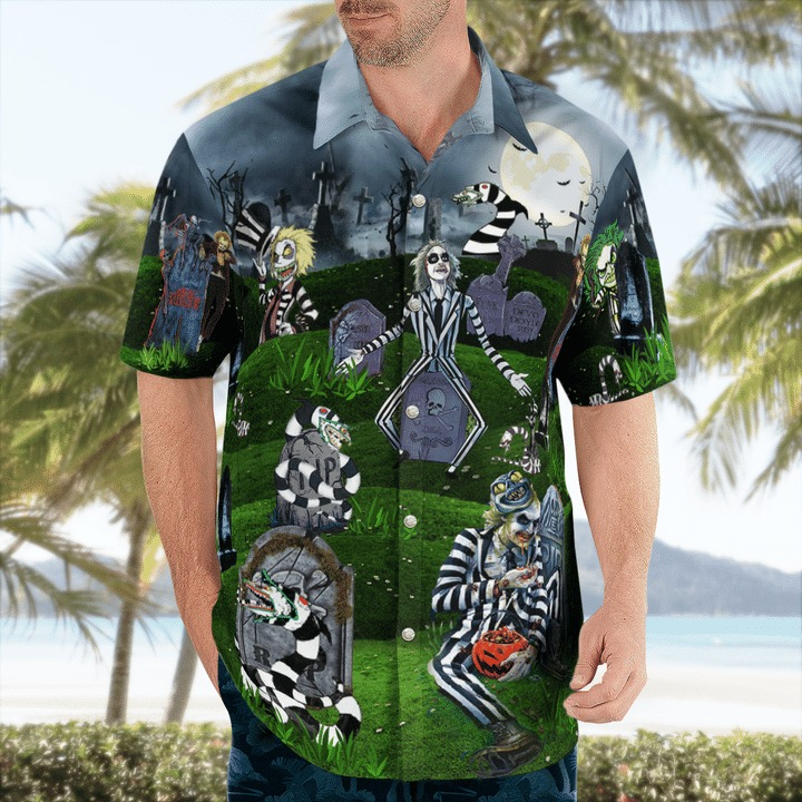 Never trust the living amazing beetlejucie hawaiian shirt 1