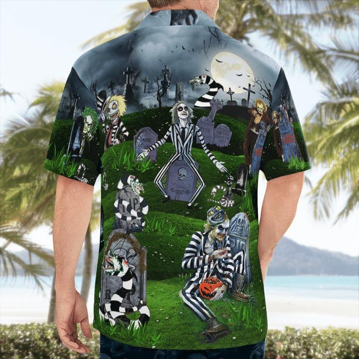 Never trust the living amazing beetlejucie hawaiian shirt 2