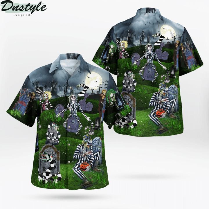 Never trust the living amazing beetlejucie hawaiian shirt