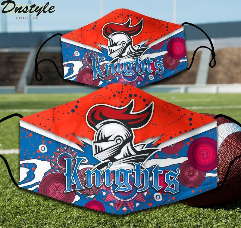 Newcastle Knights NRL 3d face mask