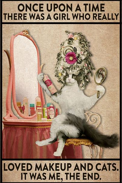 Once upon time there was a girl who really loved makeup and cats it was me the end poster